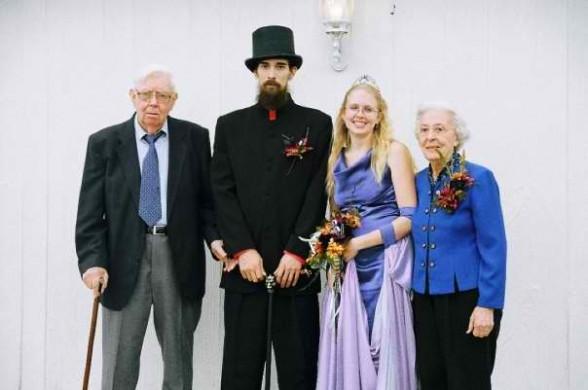 Jamie, Megan and Jamie's grandparents Robert and Diana
