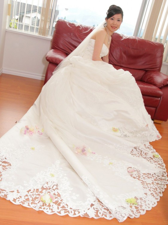 Long White Designer Wedding Dress