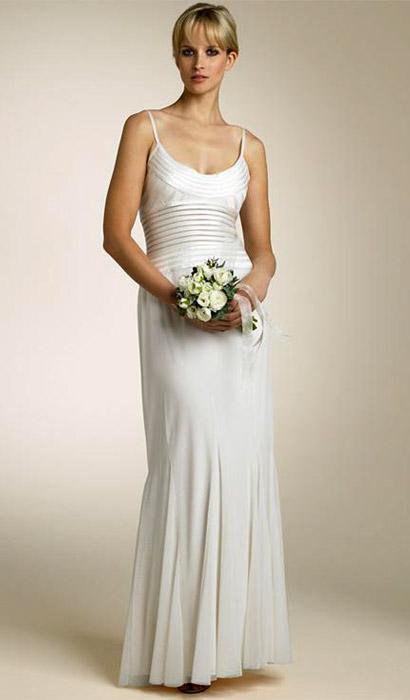 Simple Column Wedding Dress